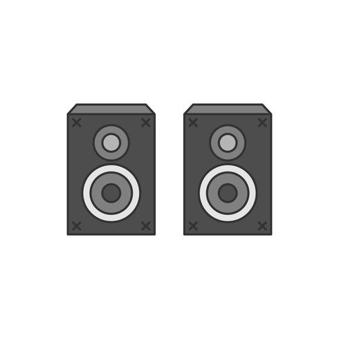 Audio speaker stereo sound system illustration.