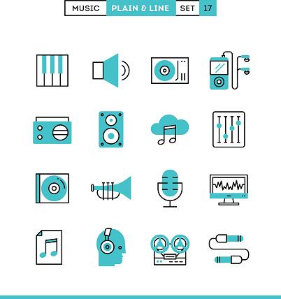 Music, Sound, Recording, Editing and premium clipart.