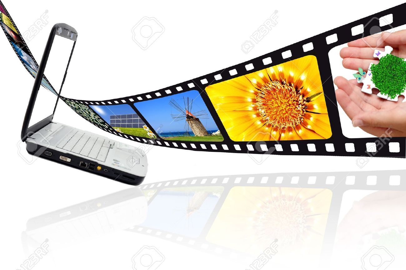 Movie Film Images And PC Stock Photo, Picture And Royalty Free.