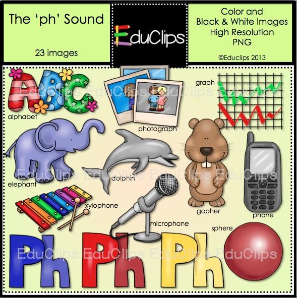 The PH Sound Clip Art Bundle (Color and B&W).