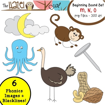 Beginning Sound Phonics Clip Art.