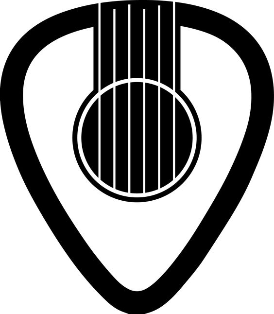 My design. Guitar pick, guitar, sound hole, tattoo..