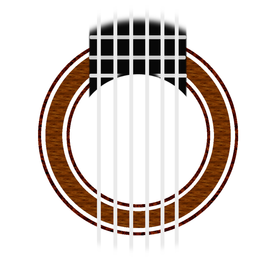 Classical Guitar rosette, simple (w/o sound hole) by Changsta.
