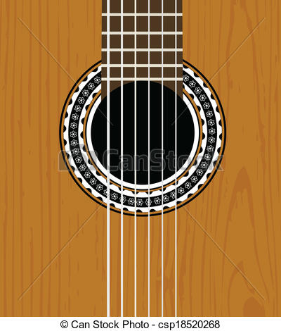 Clip Art Vector of Guitar sound hole background.