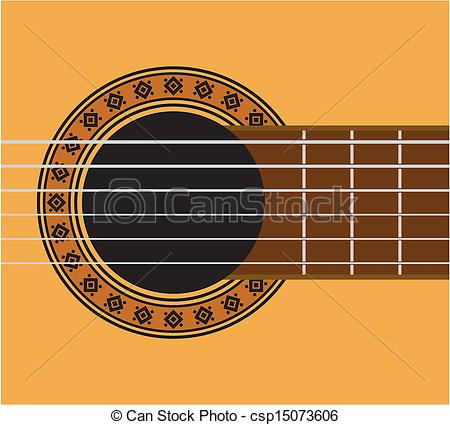 Vector Clipart of Guitar detail.