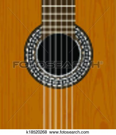 Clip Art of Guitar sound hole background k18520268.