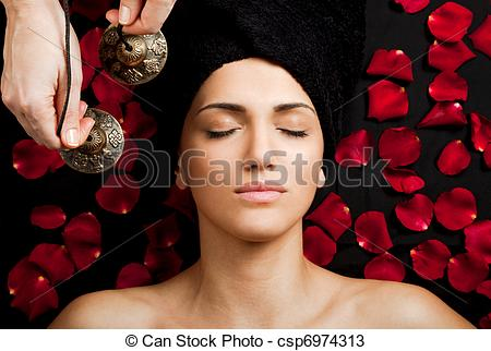 Stock Photos of Sound massage.