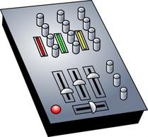Audio mixer clipart.