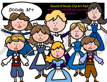 The Sound of Music Clipart Pack.
