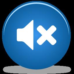 Blue sound off icon #40940.