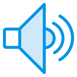Sound Icon of Colored Outline style.