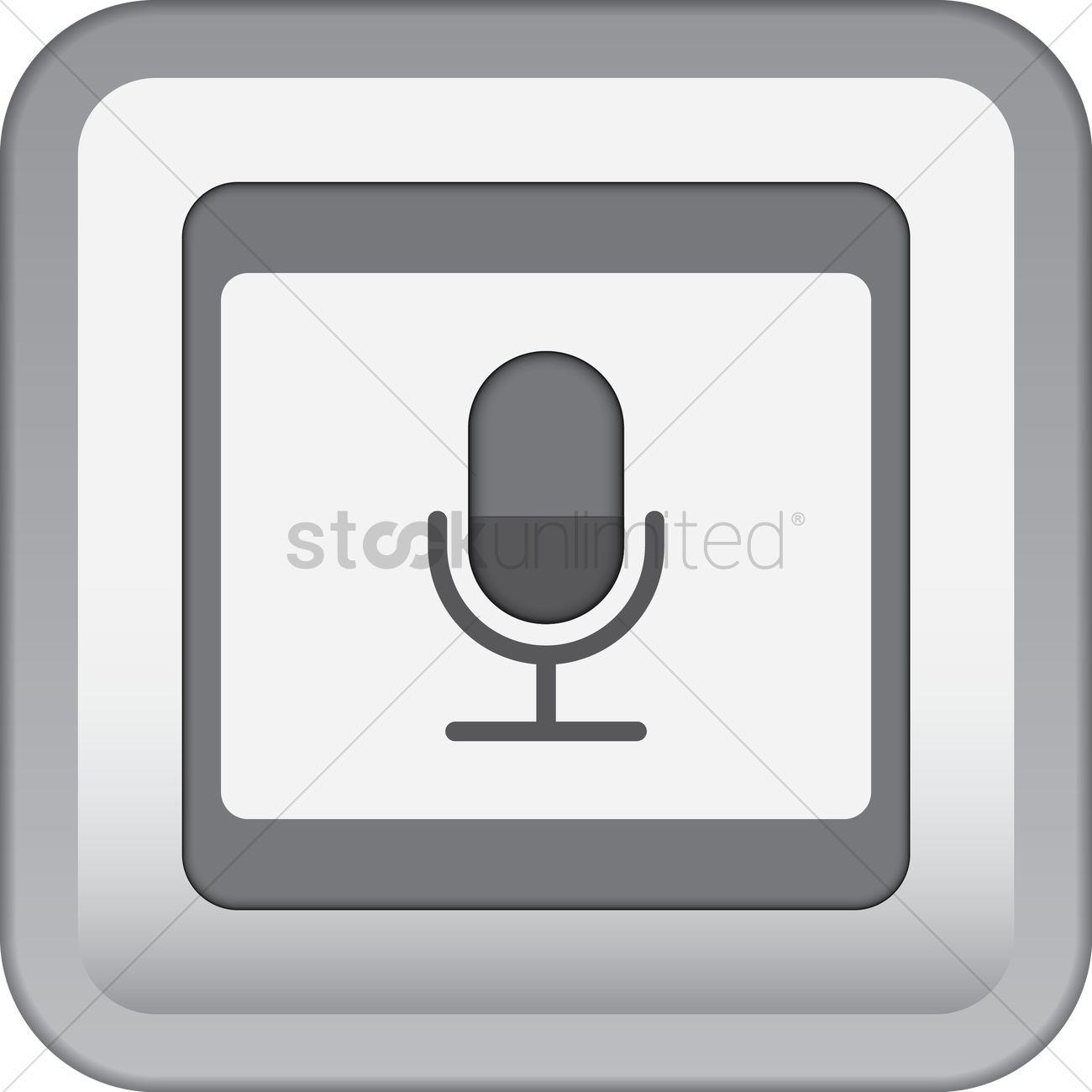Sound recorder icon Vector Image.