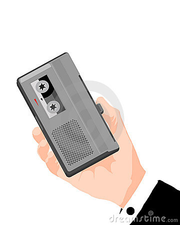 Voice recorder clipart.