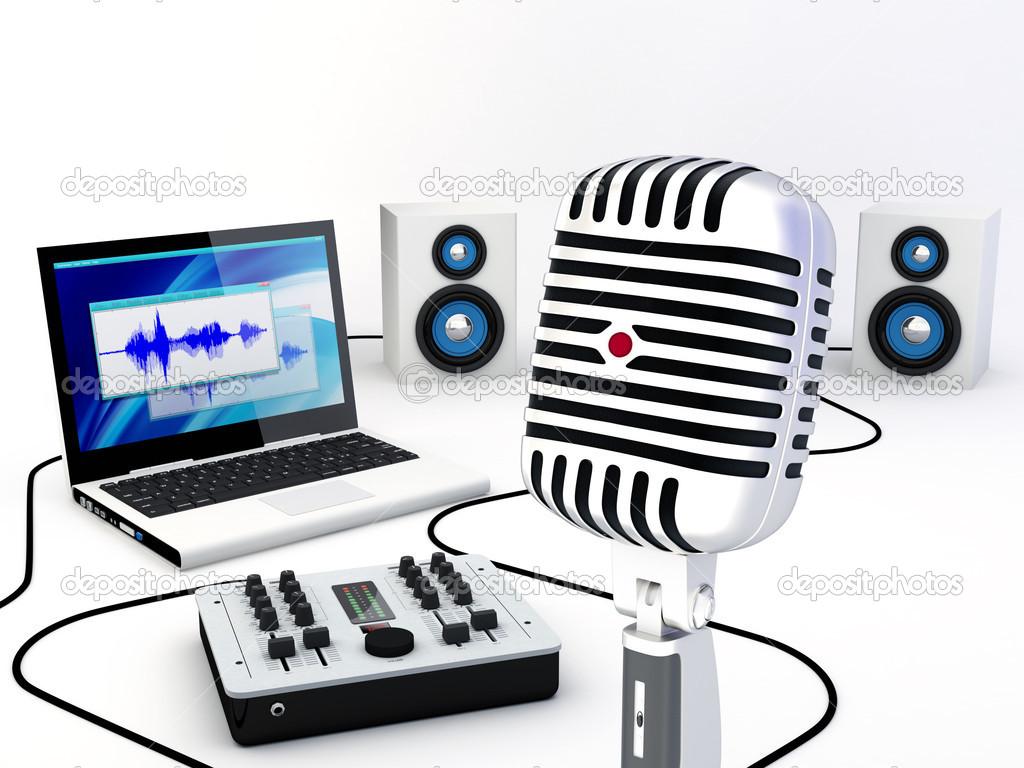 Home Recording Studio Equipment — Stock Photo © zzoplanet #10067432.