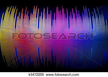 Stock Illustration of 3d sound waves spectrum background k5472205.