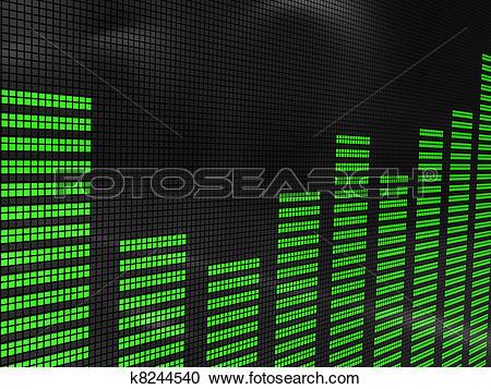 Stock Illustrations of sound spectrum k8244540.