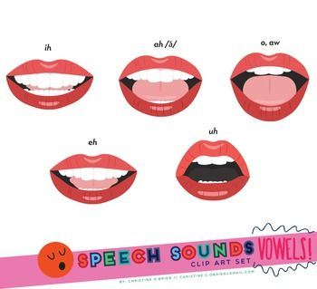 Speech therapy mouth clipart.