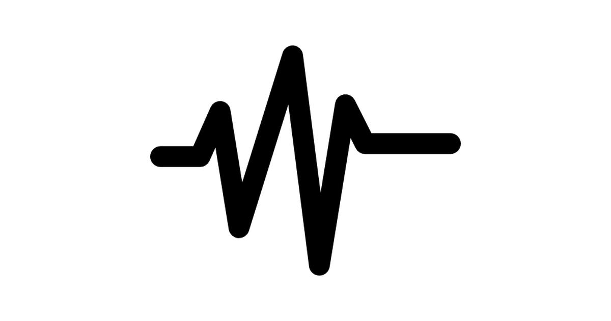 Music sound wave line.