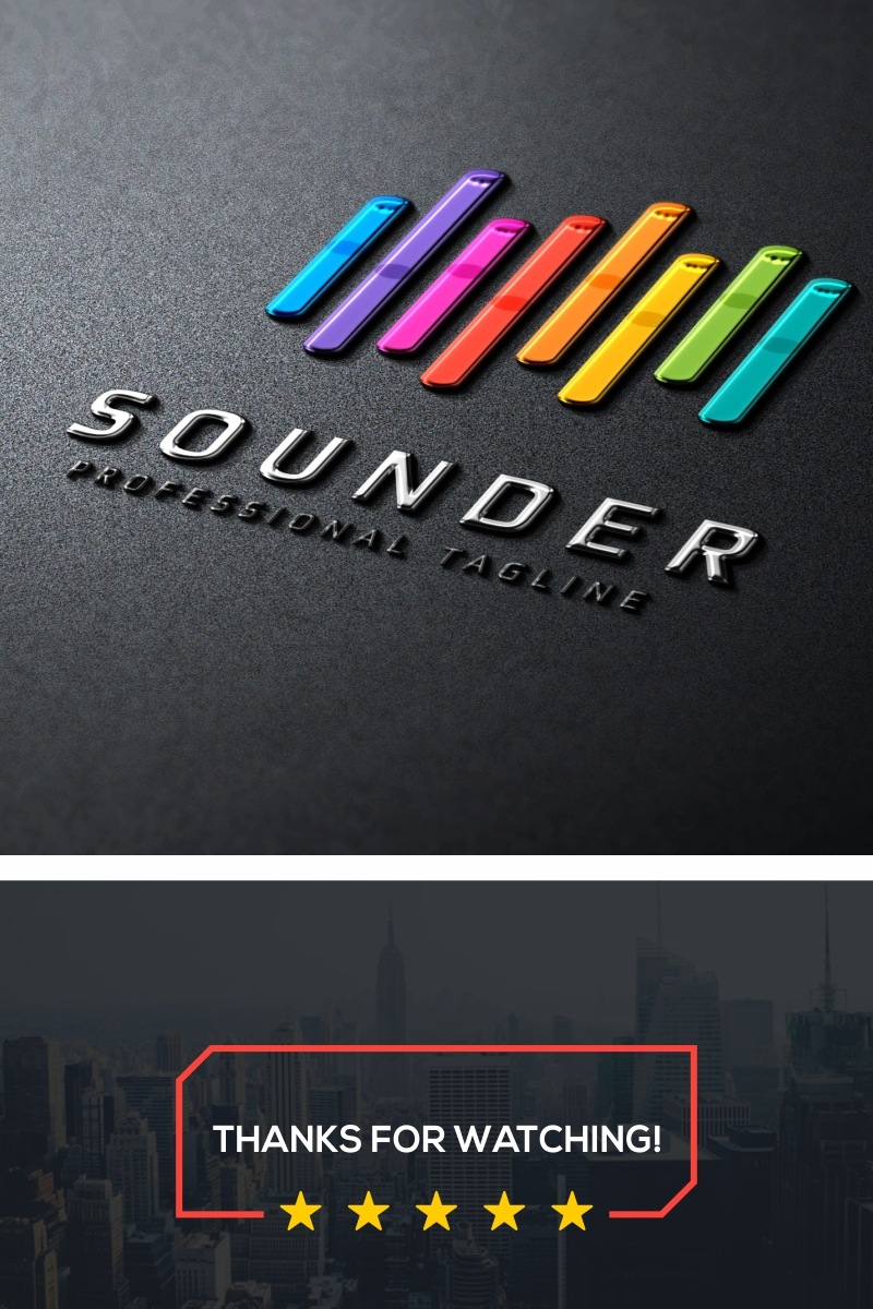 Sound Wave Logo Template.