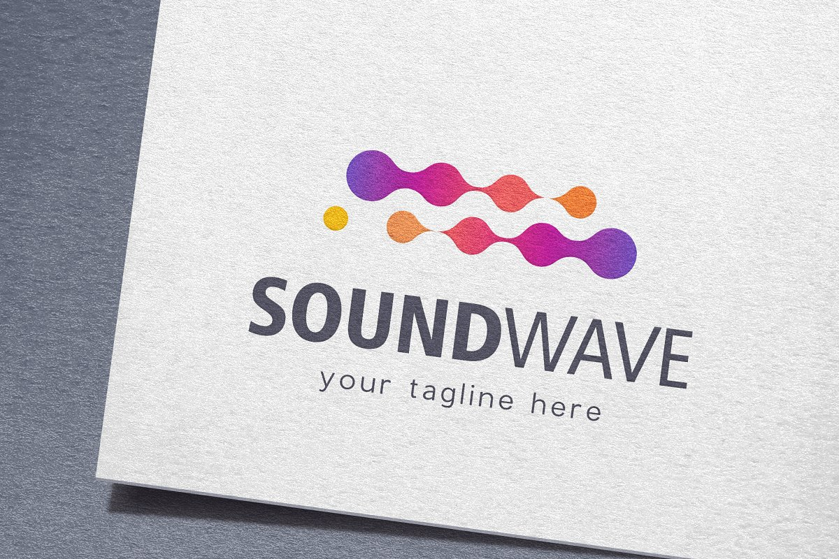 Sound Wave Logo ~ Logo Templates ~ Creative Market.