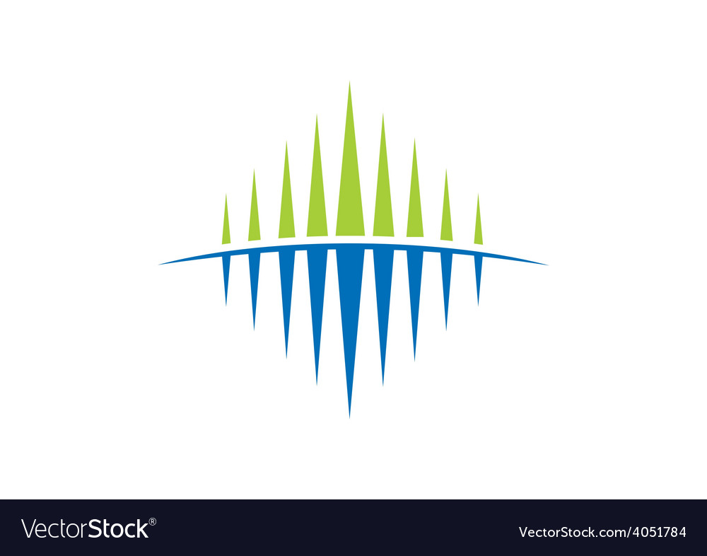 Business abstract flow geometry sound wave logo.