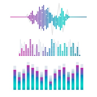 Sound Wave Vectors, Photos and PSD files.