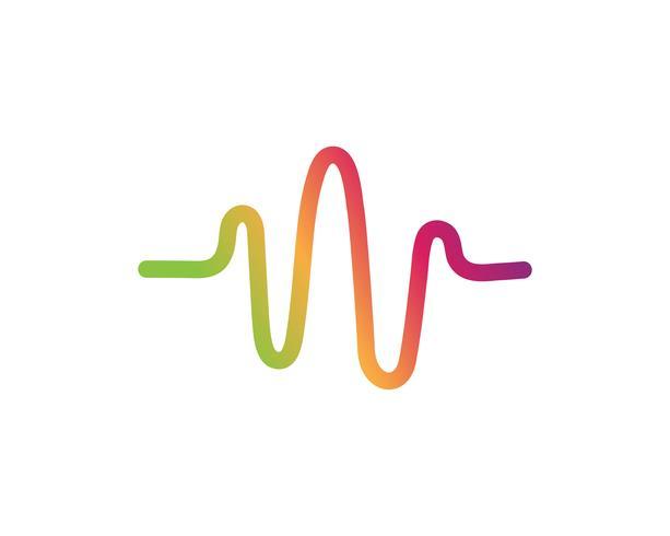 Sound waves vector illustration.