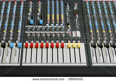 Front View Of Sound Board Mixer Stock Photo 26954551 : Shutterstock.