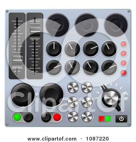 Clipart 3d Mixing Console Sound Board Buttons.