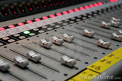 Sound Board Or Studio Controls Royalty Free Stock Photo.