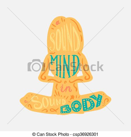 Vector Clipart of Heathcare Sport Body and Mind.