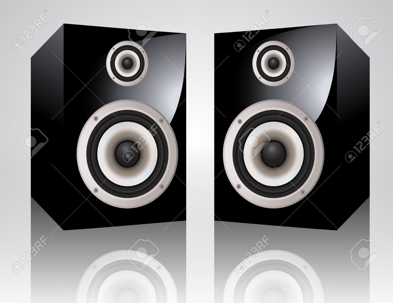 Realistic Audio Speakers Royalty Free Cliparts, Vectors, And Stock.