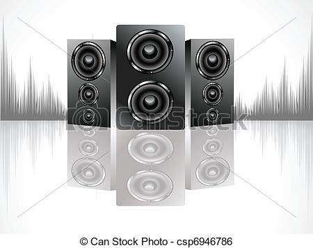 Clip Art Vector of shiny soundbox set.