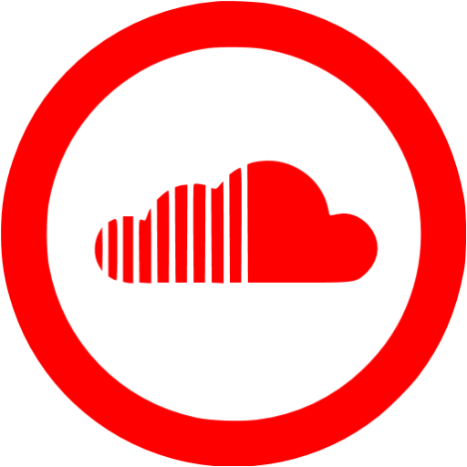 Red soundcloud 5 icon.