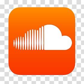 White cloud logo , Soundcloud Icon transparent background.