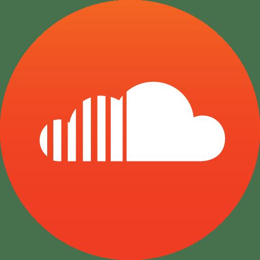 Circle Soundcloud Icon transparent PNG.