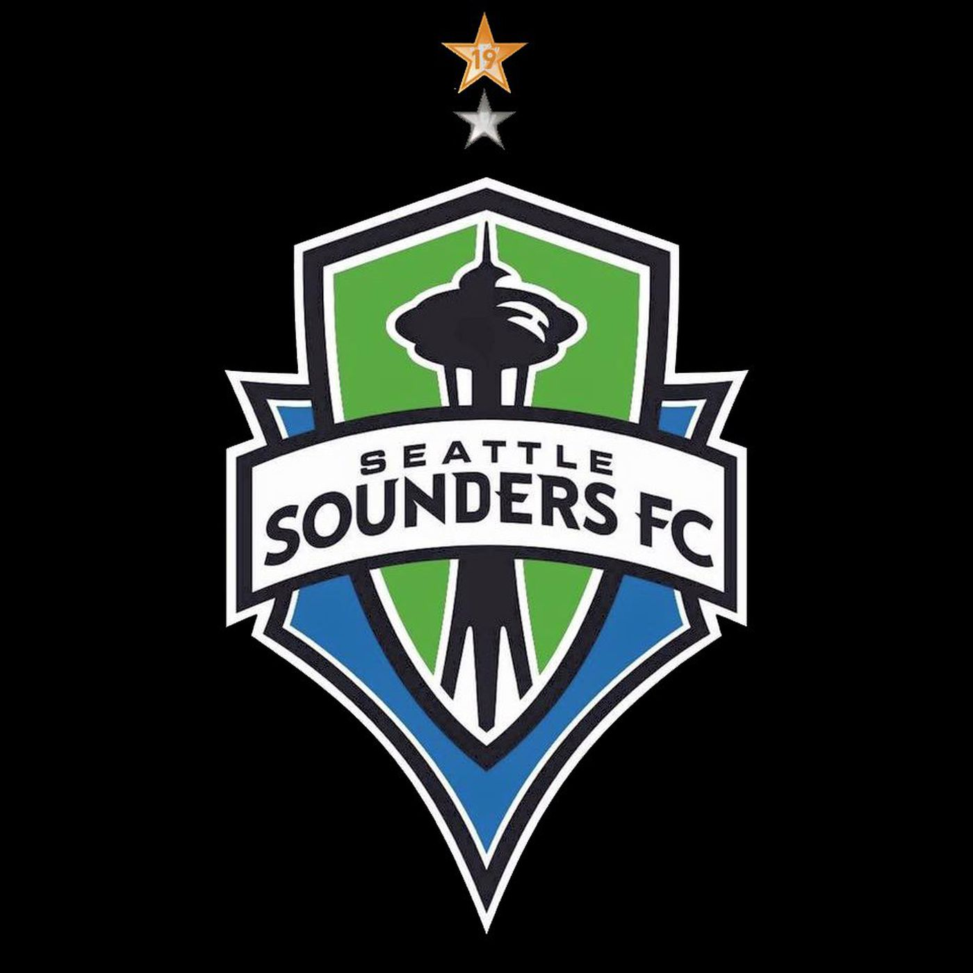 Here\'s what the Sounders badge will look like with two stars.