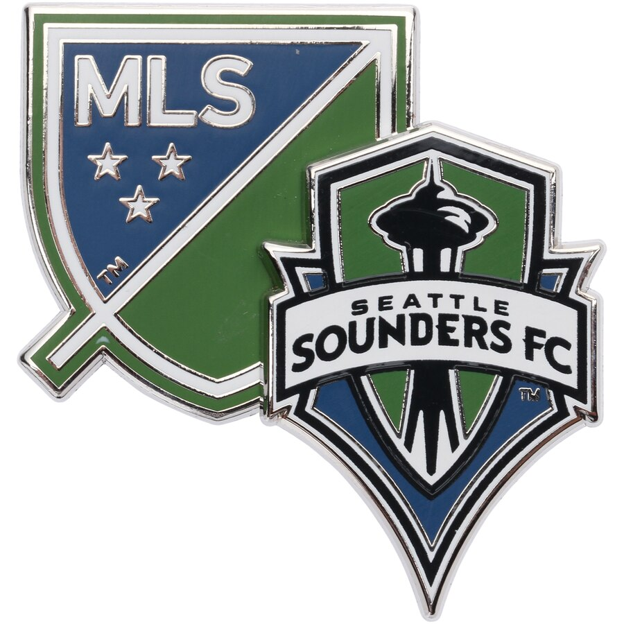 Seattle Sounders FC Dual Logo Pin.