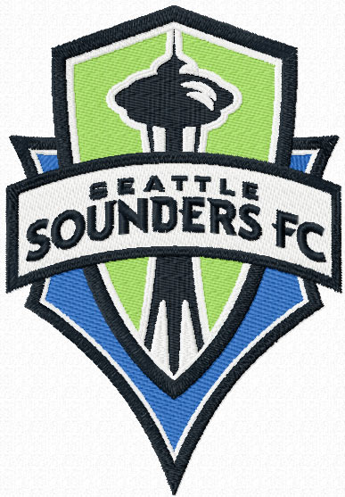 Seattle Sounders FC logo embroidery design.