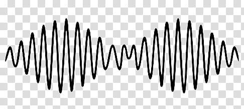 black sound wave illustration transparent background PNG.