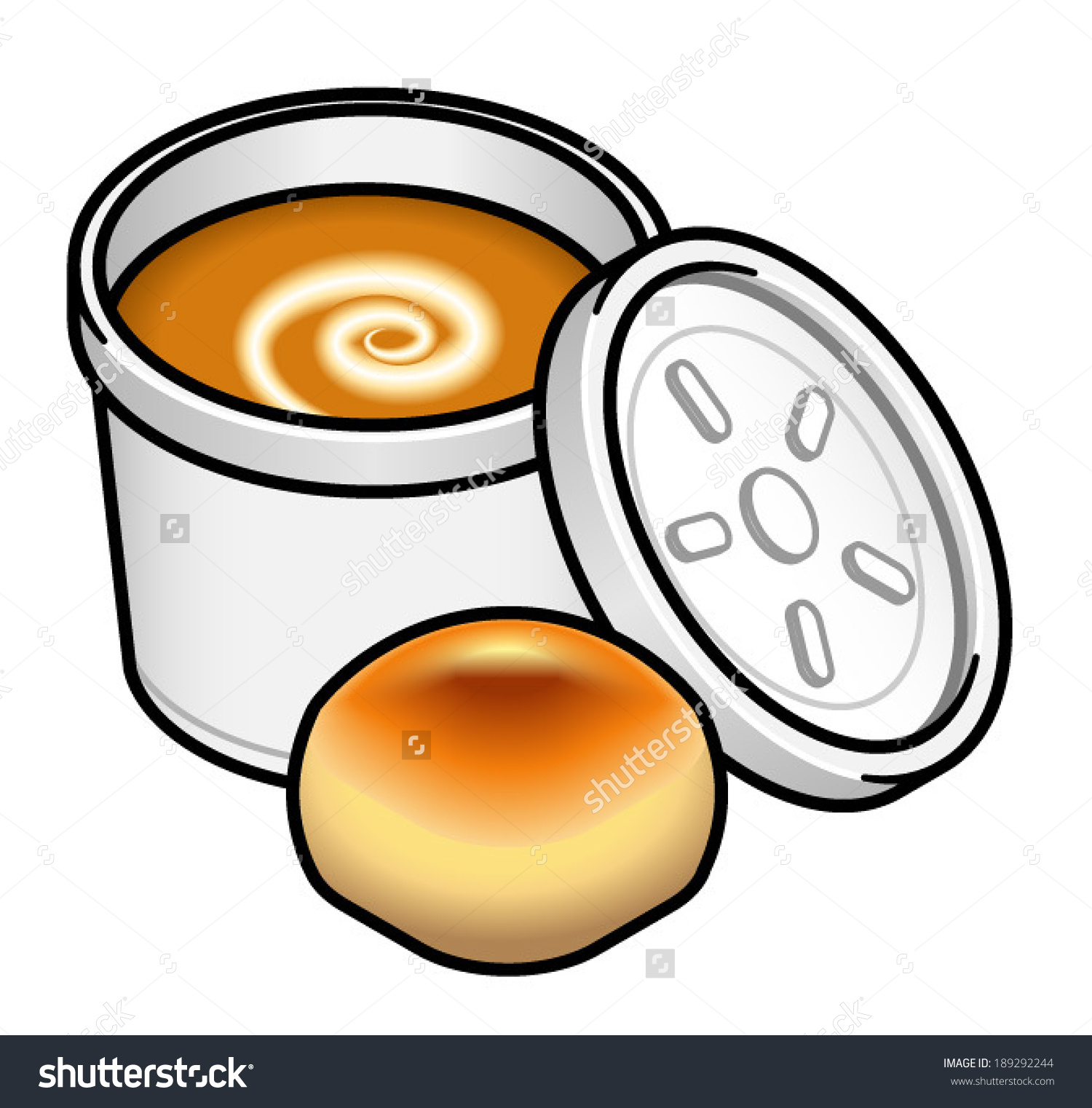 Soup And Roll Clipart.