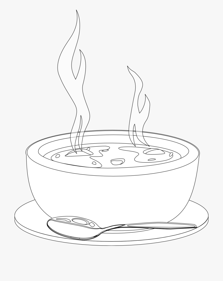 Can Soup Clipart Black And.