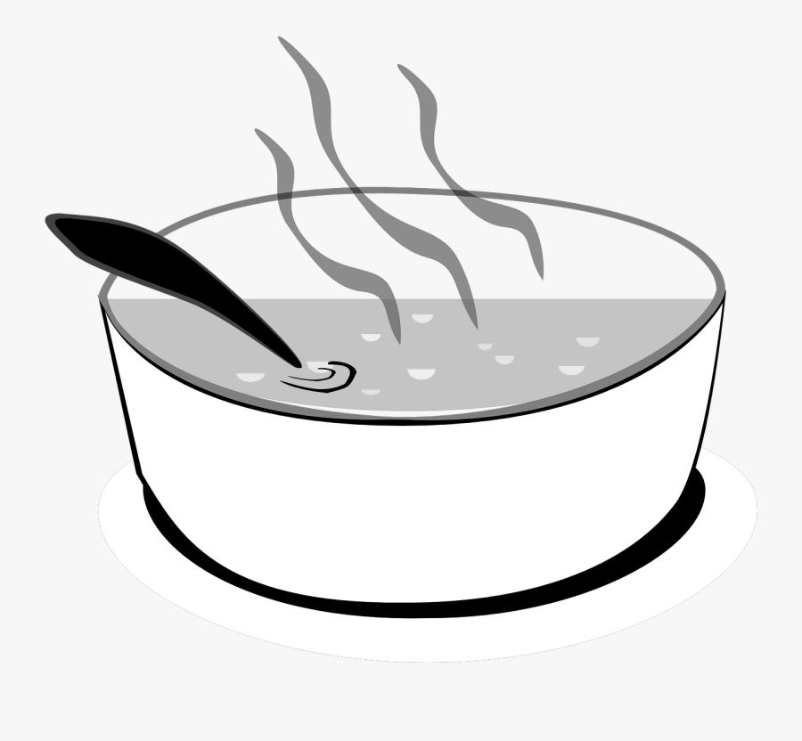 Black And White Clip Art Soup , Free Transparent Clipart.
