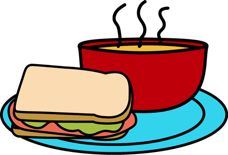 Soup Lunch Clipart.