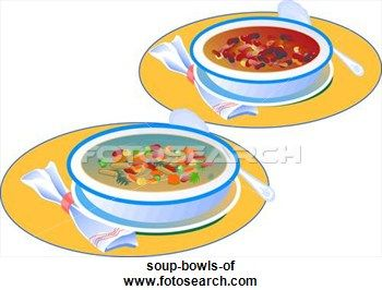 Soup, Bowls of Clip Art.