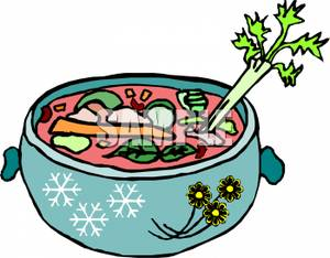 In a Pot of Soup Clip Art Image.