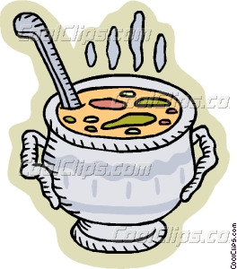pot of soup Vector Clip art.