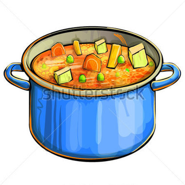 Soup Pot Clipart.