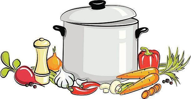 Soup Kettle Clipart.