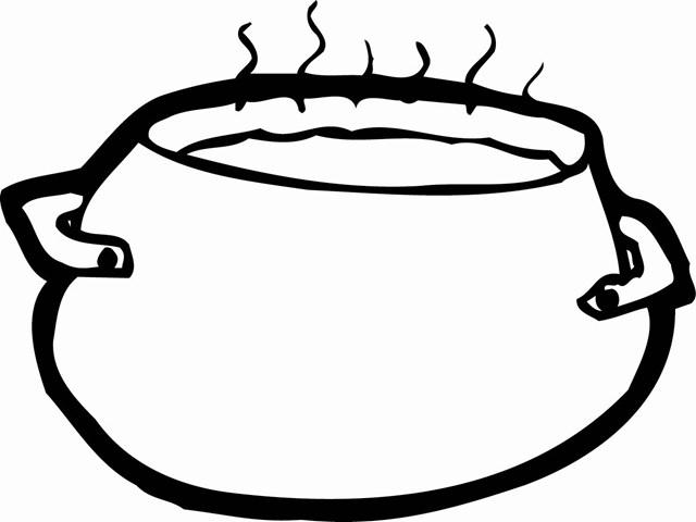 Cauldron clipart soup kettle, Cauldron soup kettle.